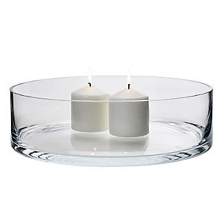 LSA International Bowl Candle Holder - Glass 35cm