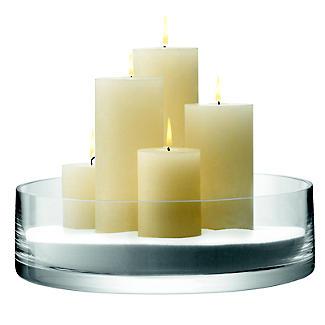 LSA International Bowl Candle Holder - Glass 35cm alt image 5