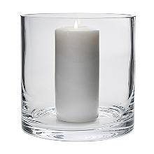 LSA International Column Vase Candle Holder - Glass 17cm