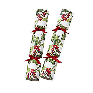 Talking Tables Botanical Holly Christmas Crackers - Pack of 6 alt image 2