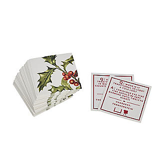 Talking Tables Botanical Holly Christmas Trivia Game