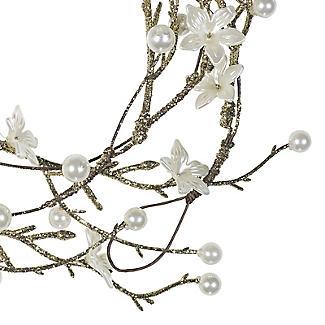 White Flower Christmas Garland 1.2m alt image 3