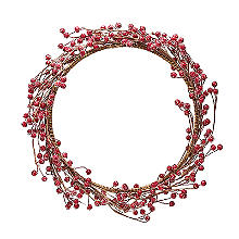 Lakeland Indoor Berry Wreath Christmas Decoration 38cm