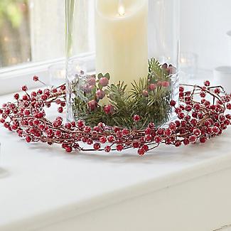 Lakeland Indoor Berry Wreath Christmas Decoration 38cm alt image 2