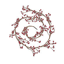 Lakeland Wired Indoor Berry Garland Christmas Decoration 180cm