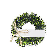 Pack of 4 Mini Wreath Place Card Holders