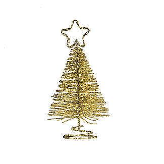 Gold Glitter Christmas Tree Place Card Holders - Set of 4 alt image 4