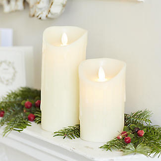 Dancing Flame LED Battery Powered Candle 18cm  alt image 2