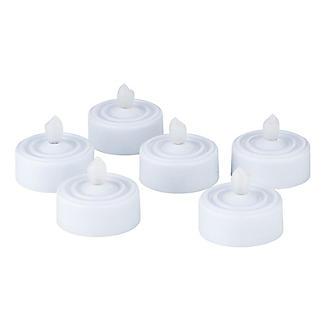 White Flickering LED Tealights - Pack of 6 alt image 2