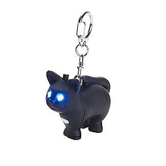 Kikkerland Cat LED Novelty Key Ring With Sound