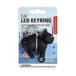 Kikkerland Cat LED Novelty Key Ring With Sound alt image 3