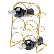 Hahn Pisa 6-Bottle Wine Rack - Gold