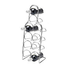 Hahn Pisa 10-Bottle Wine Rack - Chrome