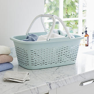 Large-Handled Lightweight Laundry Basket 29L alt image 2