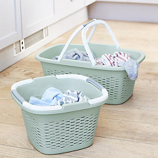 Large-Handled Lightweight Laundry Basket 17L alt image 2