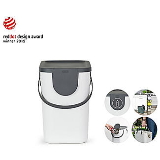 Rotho Albula Recycling Waste Bin Putty Colour 25L alt image 8