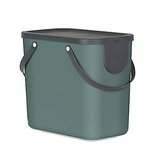 Rotho Albula Recycling Waste Bin Fern Green Colour 25L