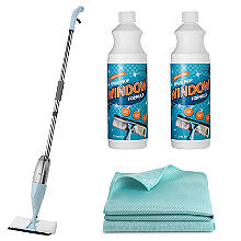 Window Spray Mop and Glass Cleaner Bundle