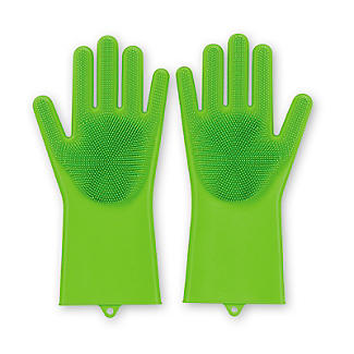 Silicone Scrubby Cleaning Gloves – 1 Pair