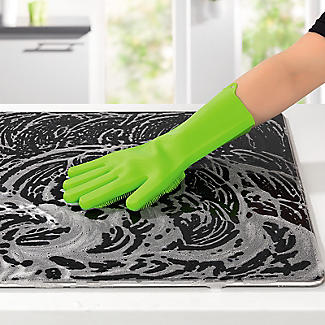 Silicone Scrubby Cleaning Gloves – 1 Pair alt image 2