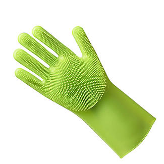 Silicone Scrubby Cleaning Gloves – 1 Pair alt image 8