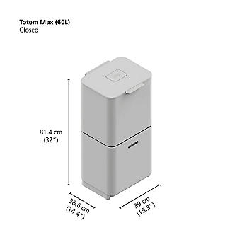 Joseph Joseph Totem Max Waste Recycling Unit - Stainless Steel 60L alt image 11