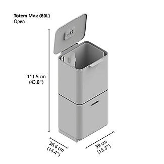 Joseph Joseph Totem Max Waste Recycling Unit - Stainless Steel 60L alt image 12