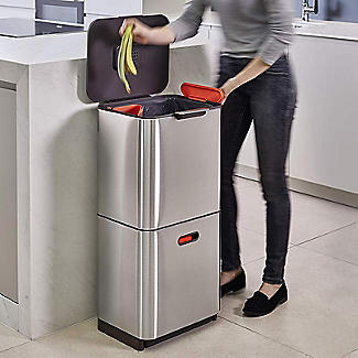 Joseph Joseph Totem Max Waste Recycling Unit - Stainless Steel 60L alt image 3
