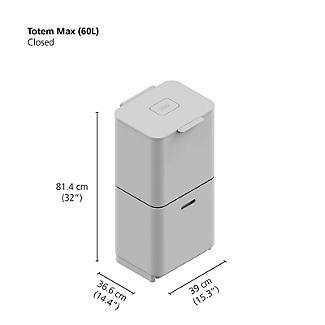 Joseph Joseph Totem Max Waste Recycling Unit - Stone 60L alt image 10