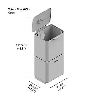 Joseph Joseph Totem Max Waste Recycling Unit - Stone 60L alt image 11