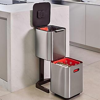 Joseph Joseph Totem Compact Waste Recycling Unit - Stainless Steel 40L alt image 2