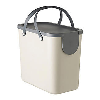 Rotho Albula Recycling Waste Bin Latte Colour - 25L