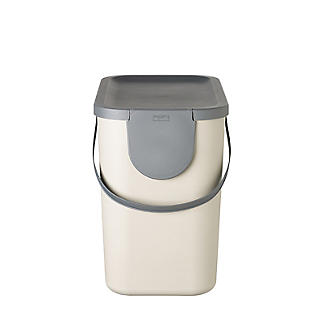 Rotho Albula Recycling Waste Bin Latte Colour - 25L alt image 4