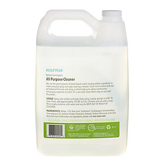 Eco-Max Natural Lemongrass All Purpose Kitchen Cleaner 4 Litre Refill alt image 2