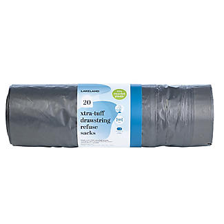 20 Lakeland Xtra-Tuff Drawstring Refuse Sacks
