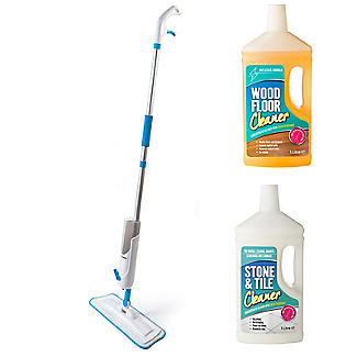 Lakeland Dual Spray Mop and 2 Floor Cleaners  alt image 1