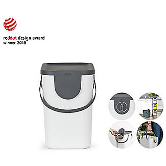 Rotho Albula 2 x 25L Recycling Bin Set - Putty White alt image 8