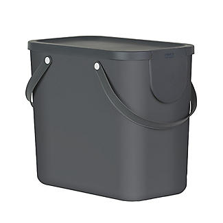 Rotho Albula Recycling Waste Bin Slate Grey 25L