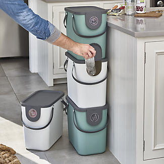 Rotho Albula Recycling Waste Bin Slate Grey 25L alt image 2