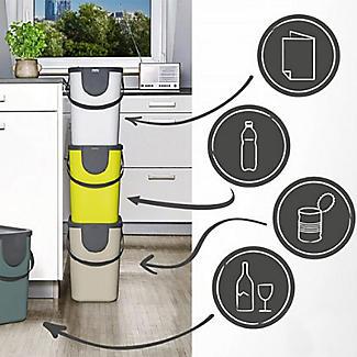 Rotho Albula Recycling Waste Bin Slate Grey 25L alt image 3