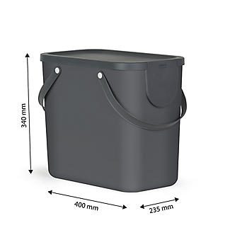Rotho Albula Recycling Waste Bin Slate Grey 25L alt image 5