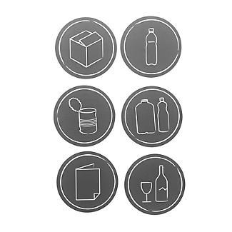 Rotho Albula Recycling Waste Bin Slate Grey 25L alt image 9