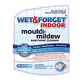 Wet & Forget Indoor Mould and Mildew Remover Spray 2 Litre alt image 2