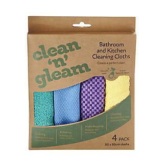 4 Clean and Gleam Kitchen and Bathroom Cleaning Cloths alt image 2