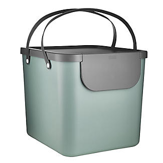 Rotho Albula Recycling Waste Bin Fern Green Colour 40L