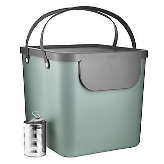Rotho Albula Recycling Waste Bin Fern Green Colour 40L alt image 6