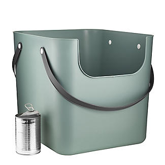 Rotho Albula Recycling Waste Bin Fern Green Colour 40L alt image 8