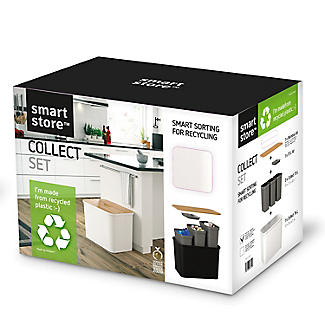 SmartStore Recycling Bin Unit White - 76L alt image 10