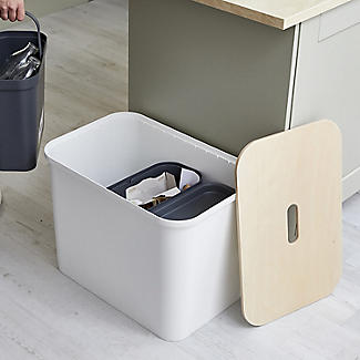 SmartStore Recycling Bin Unit White - 76L alt image 2