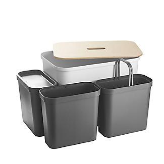 SmartStore Recycling Bin Unit White - 76L alt image 5